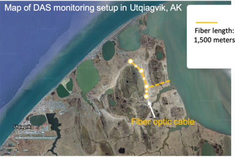 The first phase of the project is to bury a 1.5-kilometer fiber-optic cable