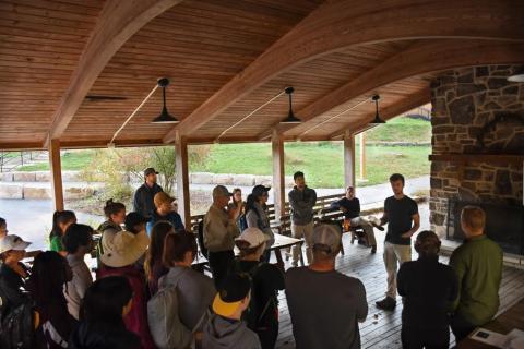 photo of students at shavers creek
